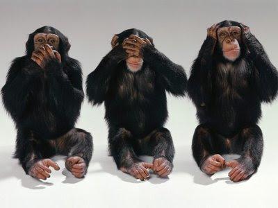 Postures habituals de la 'secta': no sentir, no veure-hi, no escoltar!
