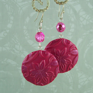 Carolyn Good's polymer clay disk earring tutorial