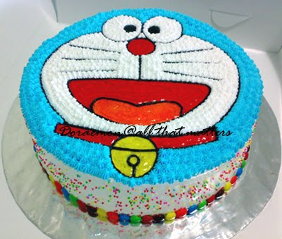 Funny Event With Doraemon Birthday Cake - Birthday Invitation