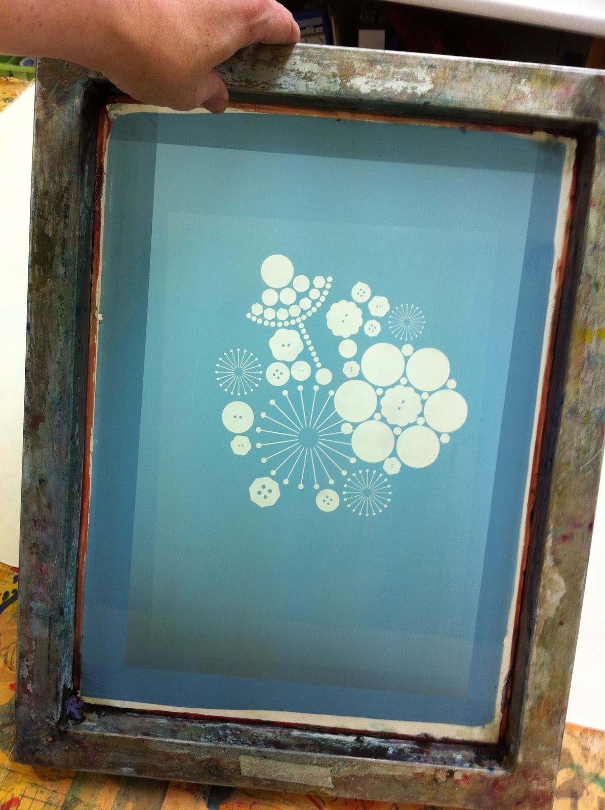 Silk Screen Screens : Bonkers about buttons silk screen printing course rd week