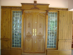 Teak wood front door