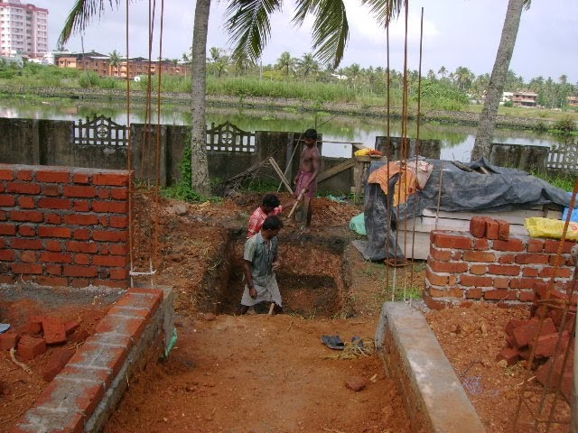 Kerala house construction at cochin ferrocement septic tank for Dreamhomes com