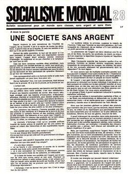 Une société sans argent