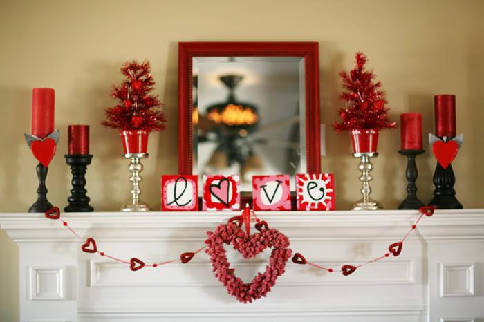 valentine interior decorations