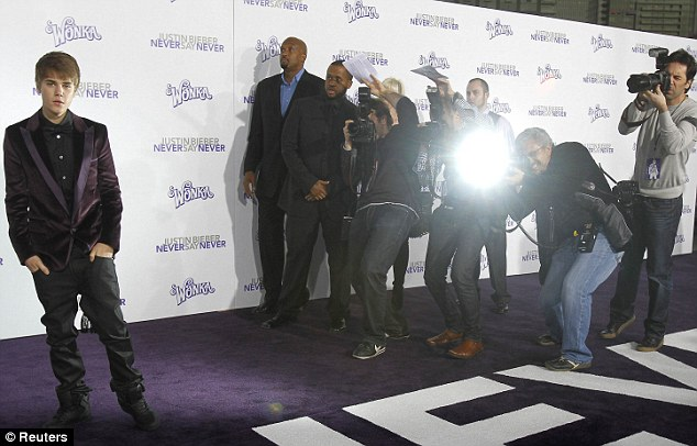 justin bieber jacket purple. In the spotlight: Justin walks