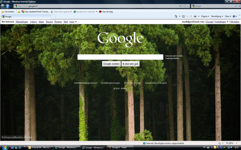google downloaden als startpagina