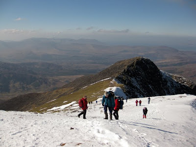 Climbing Carrauntoohil, Irelands highest mountain in county Kerry