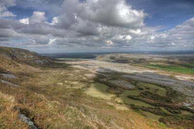  View from Slieve Carran in The Burren National Park in county Clare