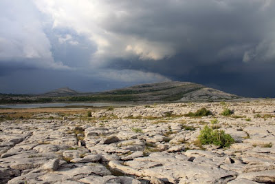 Mullaghmore mountain in The Burren National Park in county Clare