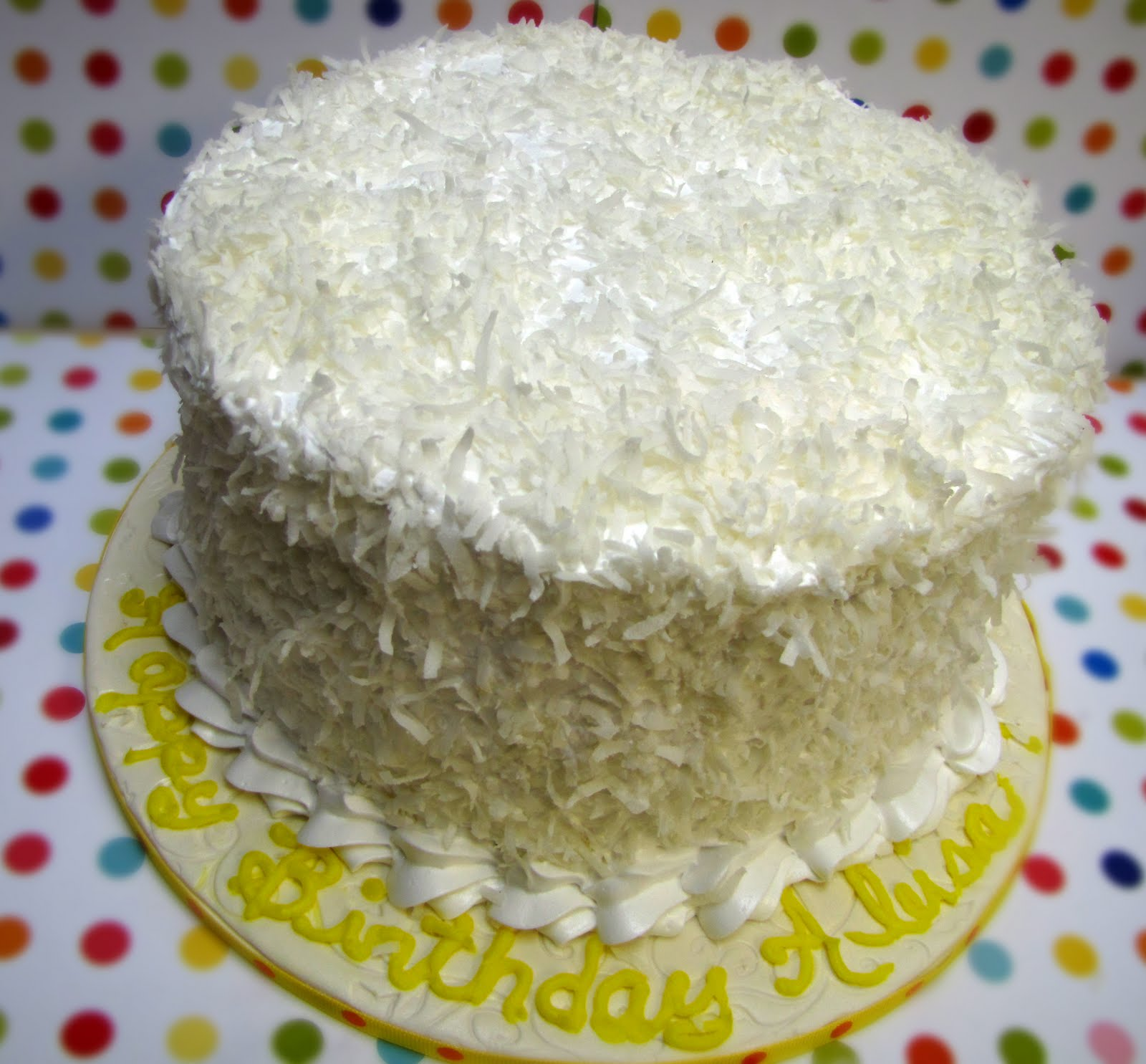 Sugar Mama's Cakery: Coconut Cream Cake