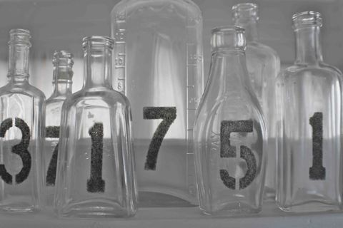 Handmade Glass Table Numbers Photo Courtesy of with this ringblogspotcom