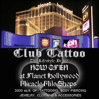 The new Club Tattoo store in Planet Hollywood opens today!