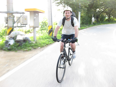 Brian's friends have also been...Cycling in Korea!