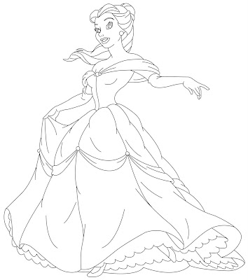 disney princess coloring pages for kids. Disney Princesses Coloring