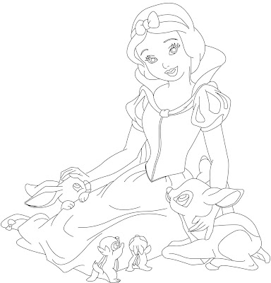 Snow White Coloring Pages