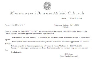 Respuesta Archivo de Varese
