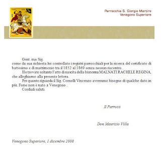 Respuesta Parroquia Venegono