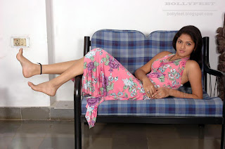 Beautiful Indian actress barefoot