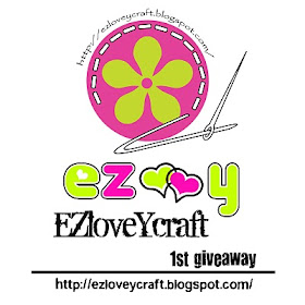 """ezloveycraft 1st giveaway"""