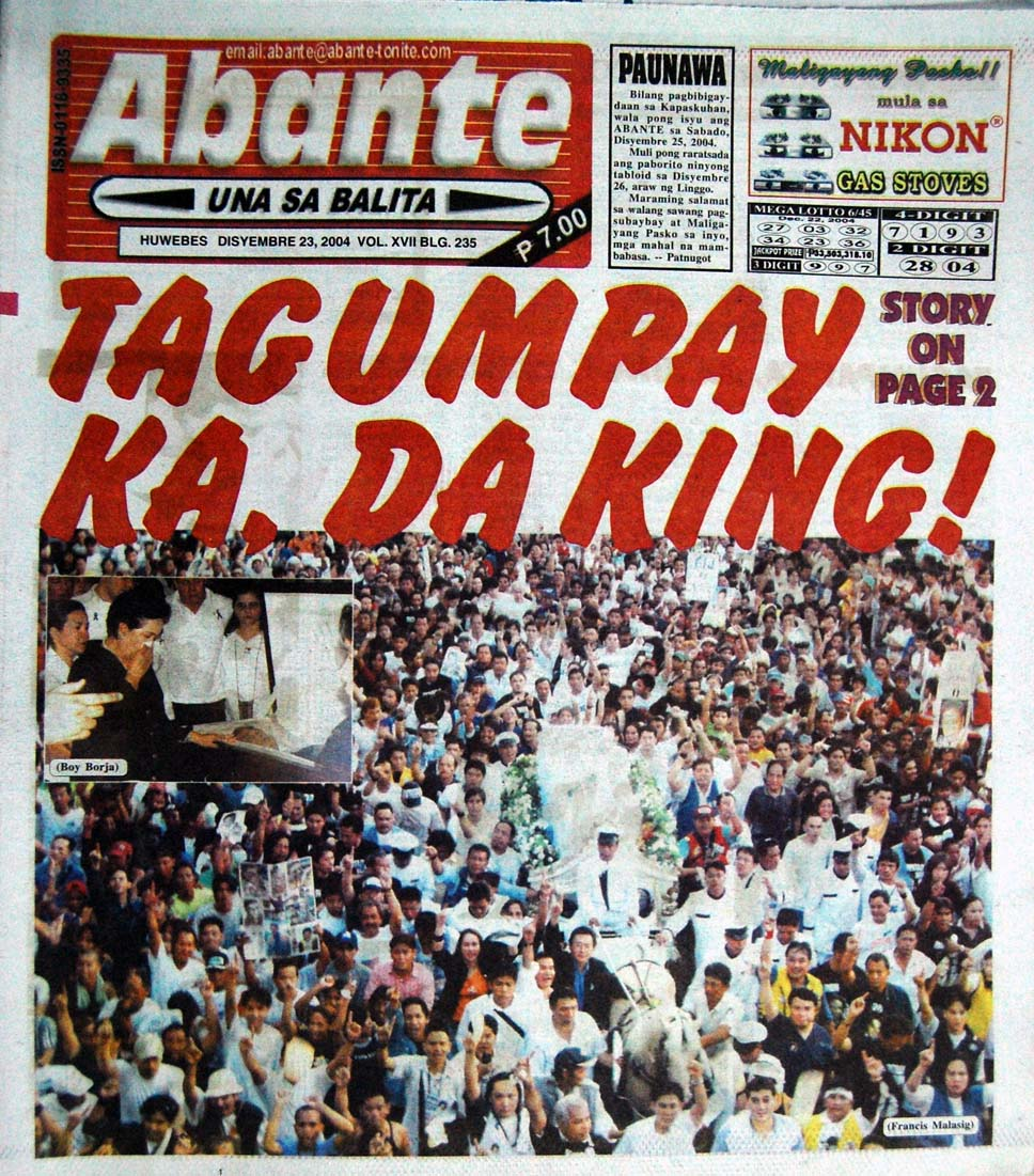 Abante Balita Ngayon - Philippine Tabloid & Broadsheet Newspapers