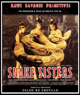 Left- Snake Sisters (1984)- Stars Sarsi Emmanuelle, Coca Nicolas