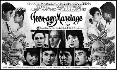 Teenage Marriage (1984)- Stars Charito Solis, Gloria Romero, Mon Alvir, ...