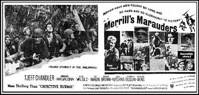"Merrill's Marauders"" (1962)- Stars Jeff Chandler, Pancho Magalona"