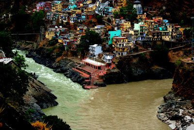place where alaknanda and bhagirathi meet me halfway