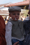 My grandson. He didn't appreciate this but he's gonna take the Marlboro Man's job away.