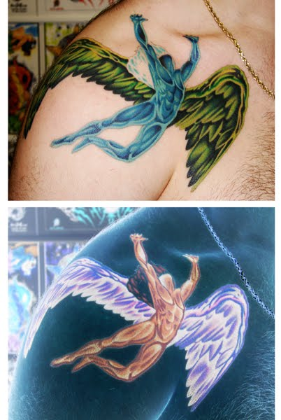 "This guy wanted to do something ""trippy"" with his Led Zepplin tattoo,"
