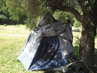 How do you setup a tent without poles? & Slater Fletcher » Blog Archive » Malibu Moni