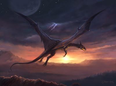 Clã Scofield Dragon+ao+por+do+sol