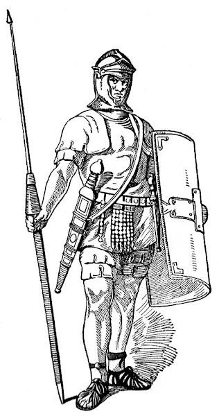Roman Soldier Coloring Sheet