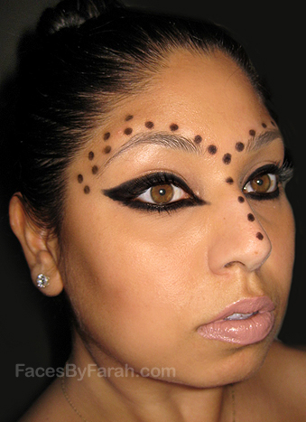 crazy makeup styles. Kinda looks a bit tribal or