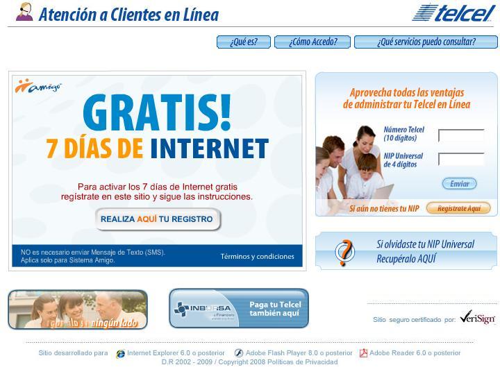 Aviso: Internet Gratis Telcel 7 dias para Celular
