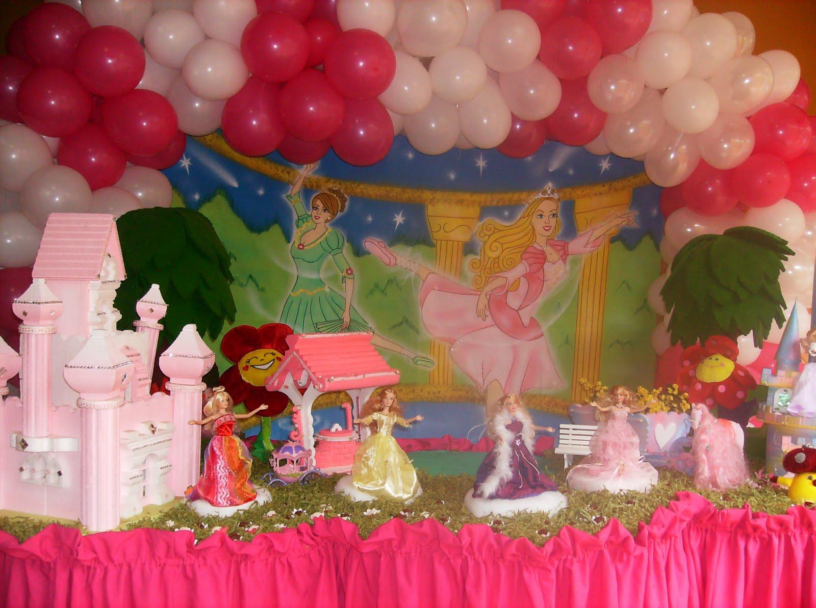 decoracao festa barbie : decoracao festa barbie:GIBI FESTAS: DECORAÇÃO BARBIE BAILARINA