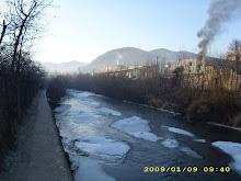 dimineaţă de iarnă pe râu