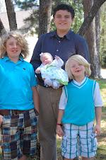 Christopher,Auston, Oakley and Peyton Easter 2009