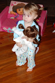 Oakley dancing with her doll