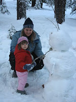 playing in the snow with my niece