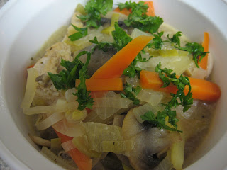Waterzooi (Dutch chicken stew), adapted from Je Mange la Ville
