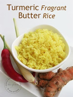 Turmeric Fragrant Butter Rice from Bits of Taste