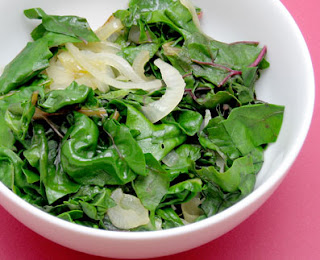 sauteed chard leaves