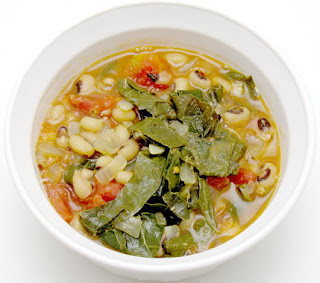 black-eyed pea and collard green soup, adapted from Gluten-Free Bay