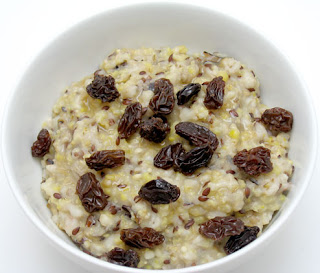 Crock pot mixed grain porridge, adapted from Not Your Mother's Slow Cooker Cookbook