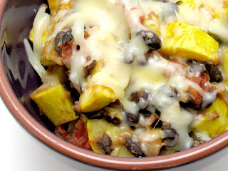 Yellow squash and black bean saute recipe