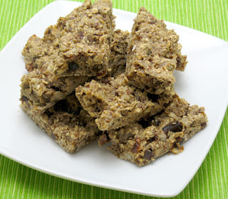 gluten-free granola bars, adapted from Ellie Krieger