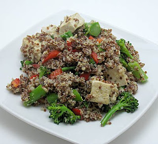 lemongrass quinoa pilaf, adapted from Didi Emmons's Vegetarian Planet
