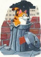 Continuamos jugando - Página 3 Gato+en+la+basura