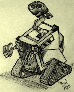 Sketch Wall-E (Disney & Pixar Movie) by RaSh